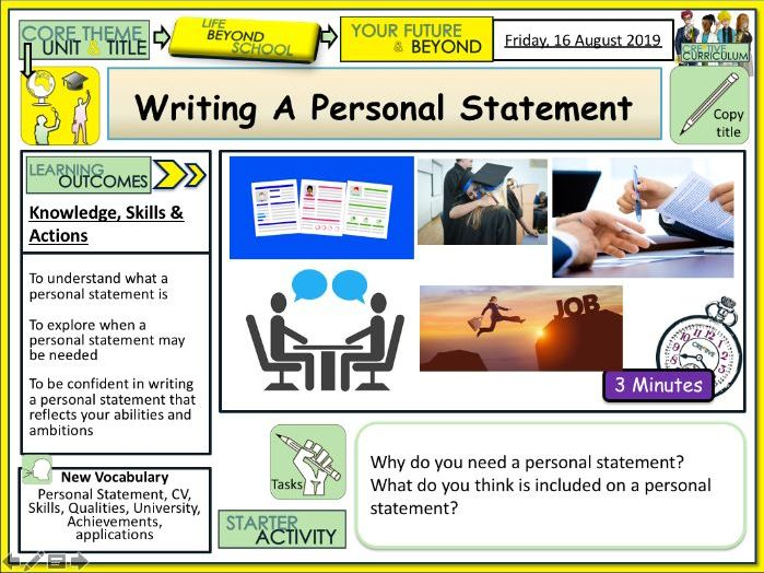 Careers - Personal Statements