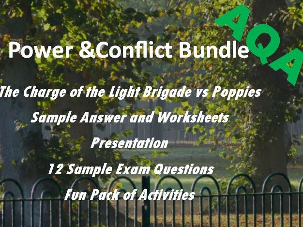 Poppies Charge of the Light Brigade: Power and Conflict Revision