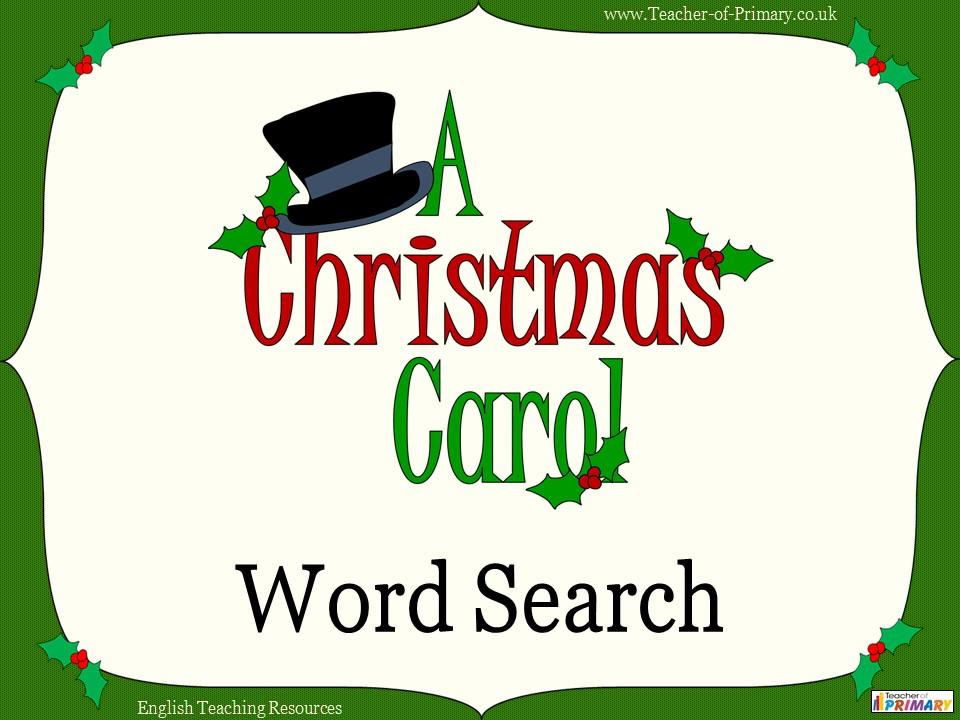 A Christmas Carol Word Search