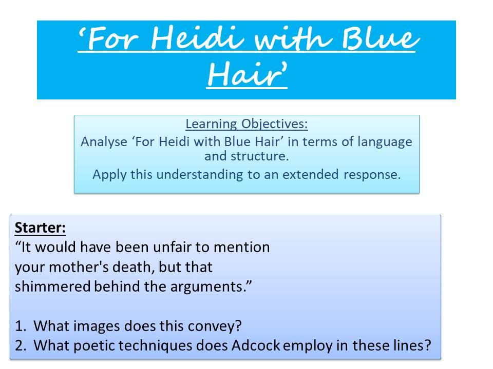 'For Heidi With Blue Hair' - Fleur Adcock