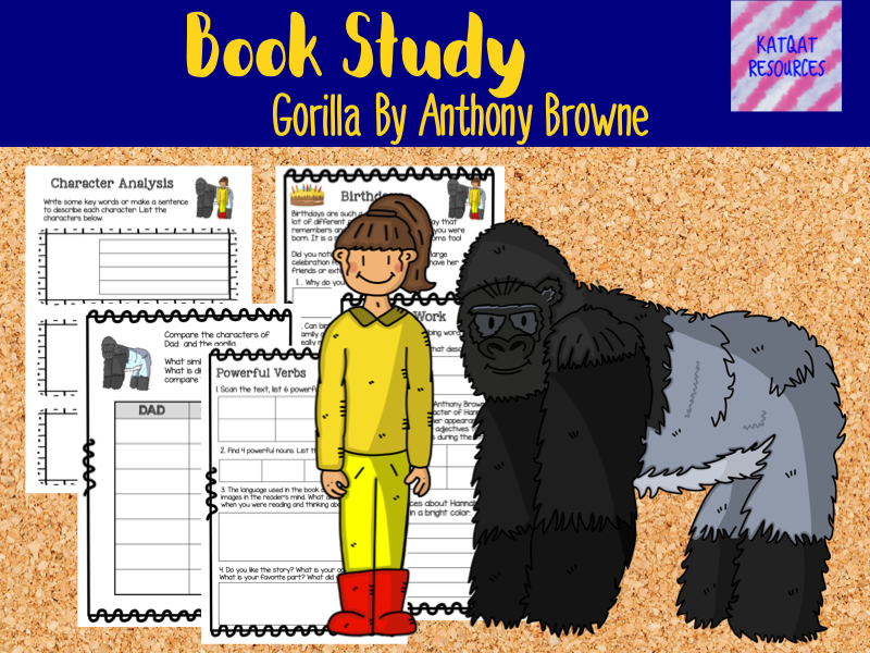 Book Study - Gorilla By Anthony Browne