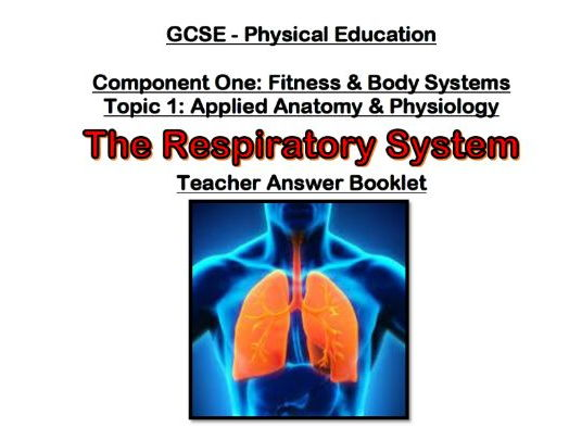 Edexcel 9-1 GCSE PE - Respiratory System Topic Booklet - Pupil & Teacher Booklet with Powerpoint