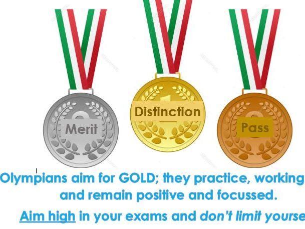 Aim High BTEC Exam Motivational Poster