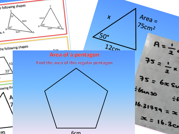 Area of a Triangle - Trigonometry