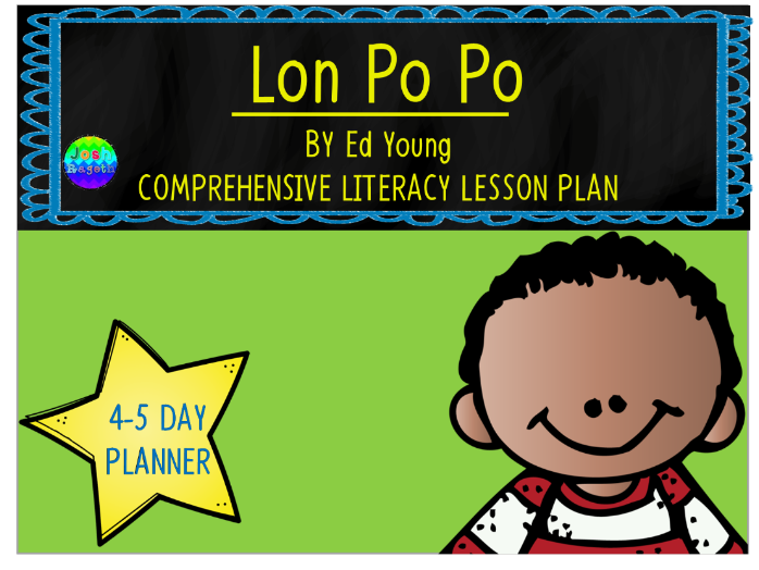 Lon Po Po by Ed Young 4-5 Day Lesson Plan
