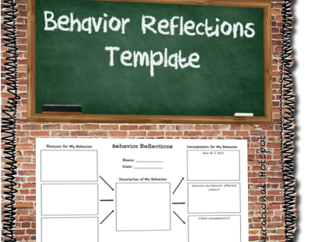 Behavior Reflections Template