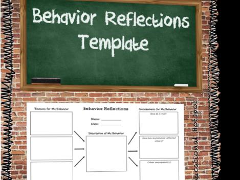 Behavior Reflections Template