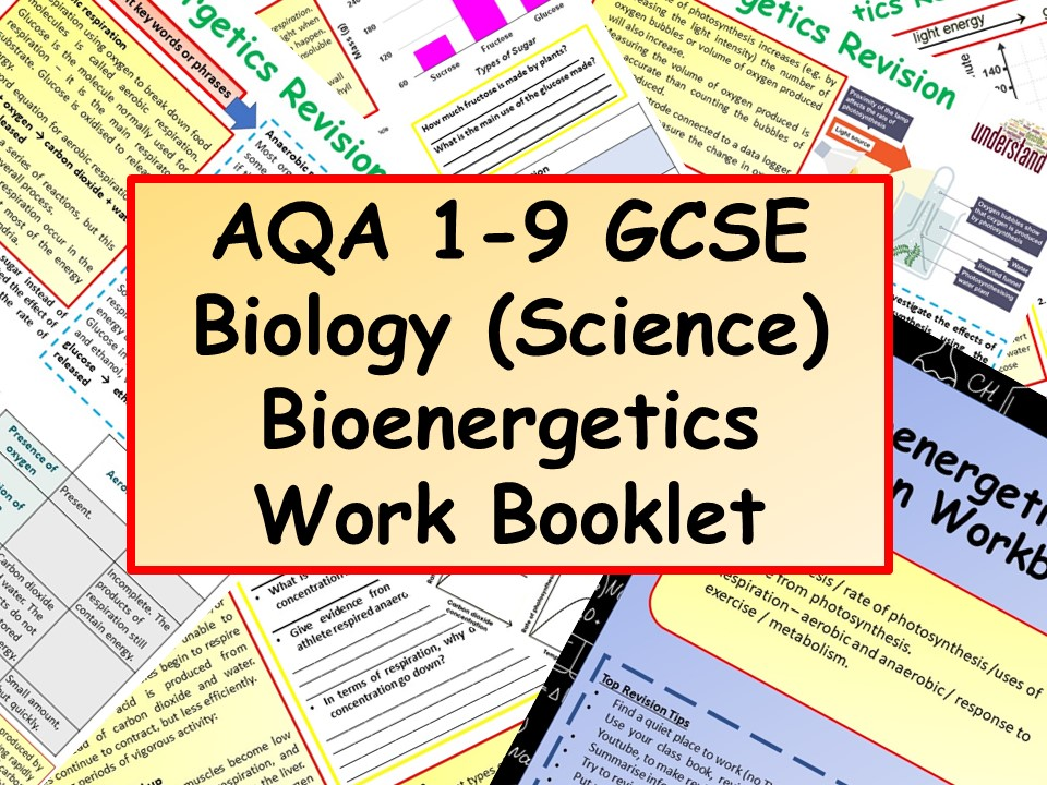 AQA 1-9 GCSE Biology (Science) Bioenergetics Work Booklet
