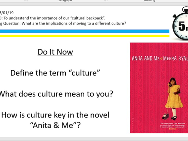 Anita and Me culture/context lessons