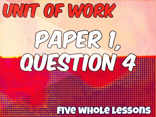UoW: AQA GCSE English Language Paper 1 Question 4 (Critical Evaluation)