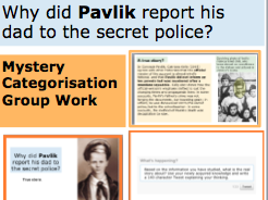 *FULL LESSON* Why did Pavlik report his dad to the secret police? Russia 1920s and 1930s KS3 KS4