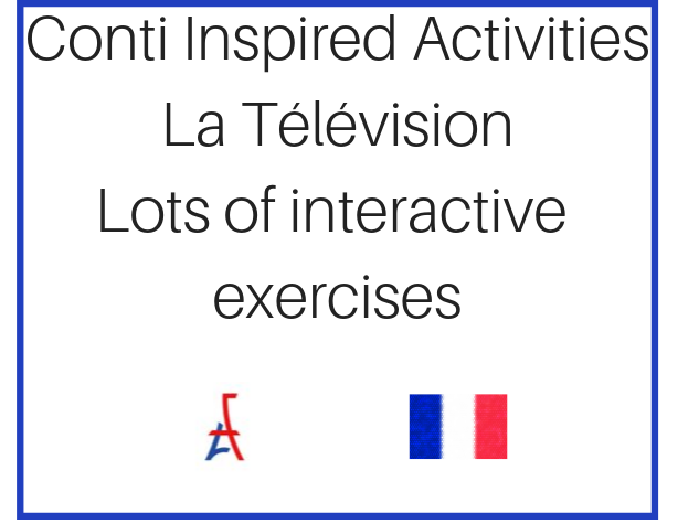 Conti Inspired Intermediate B1 French Activities on Television Adult Learners/A Level/GCSE