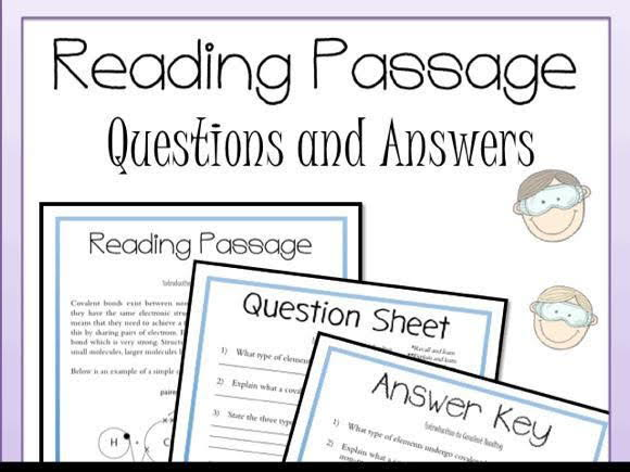 Covalent Bonding Introduction Reading Passage