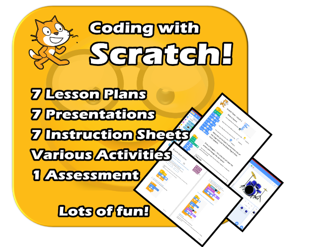 Scratch 3.2- Complete fun EDITABLE Unit - Resources, Presentations, Worksheets, Planning :)