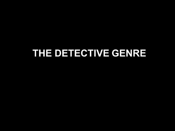 Detective genre unit of work