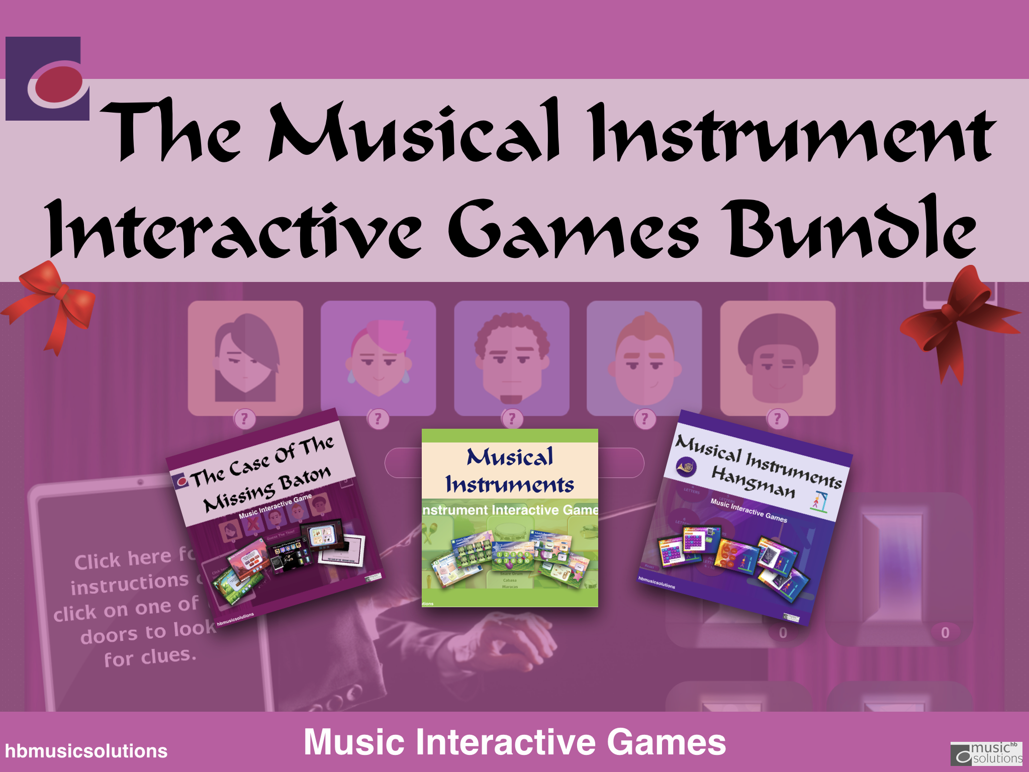 The Musical Instruments  Interactive Games And Worksheet Bundle