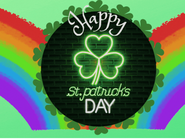Google Classroom St Patrick's Day GIF Banner