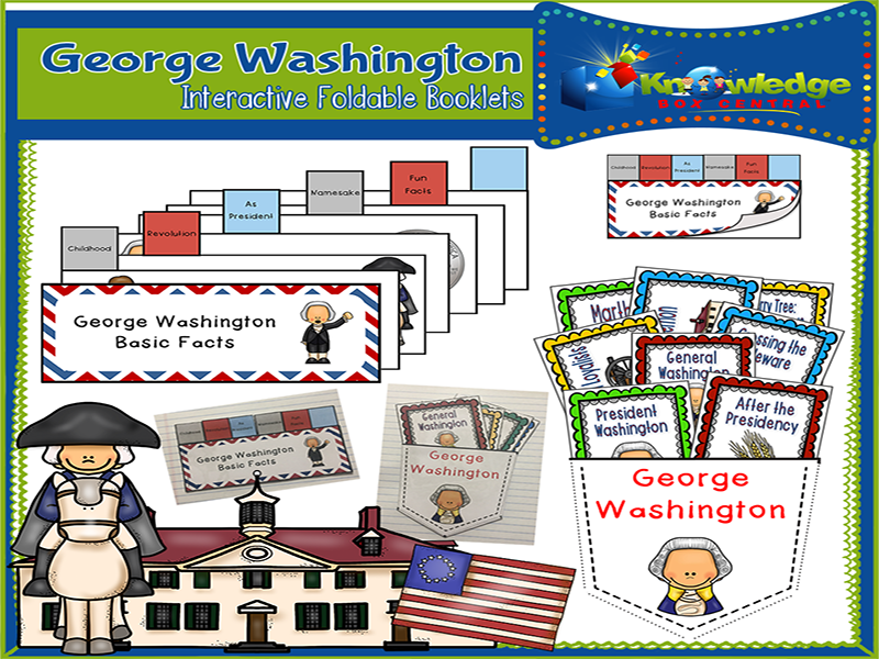 George Washington Interactive Foldable Booklets