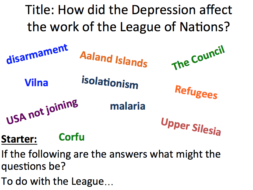 League of Nations - Lesson 6 the Great Depression