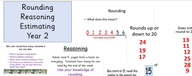 Estimating Reasoning and Rounding Year 2