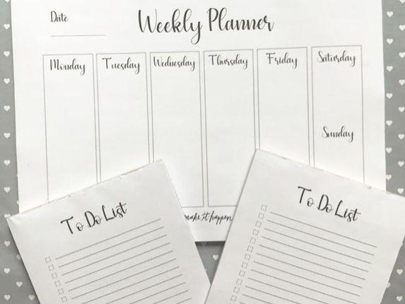 Organisation Planner Pad Templates