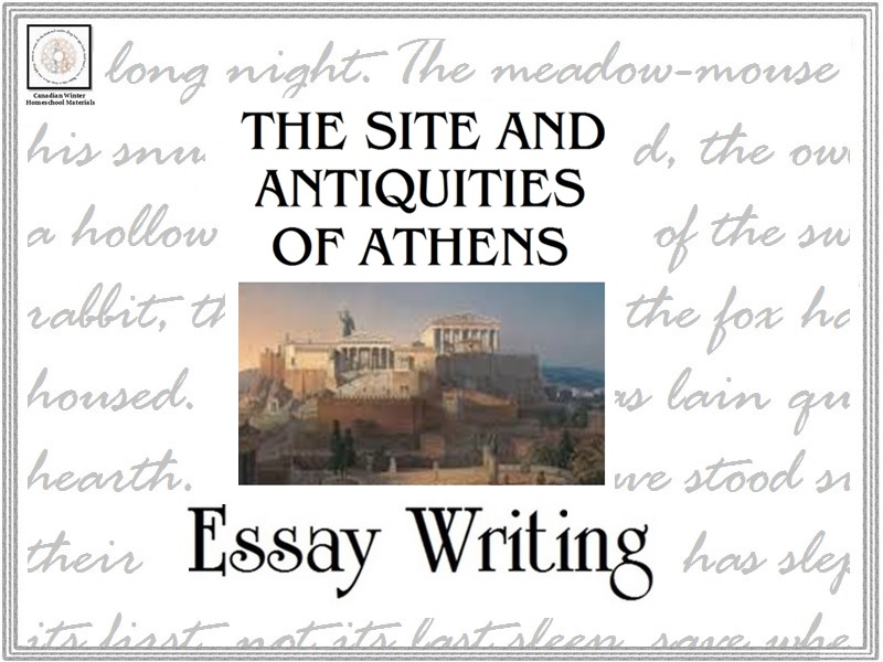 Essay Writing: The Site and Antiquities of Athens