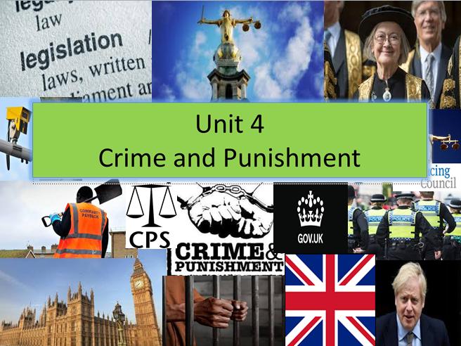 Unit 4 Crime and Punishment-EXAM UNIT (New Spec) WHOLE UNIT BUNDLE
