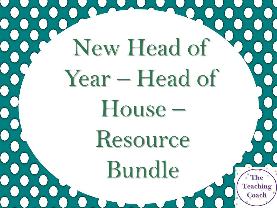 New Head of House/Year Pastoral Bundle: New Starter Pack