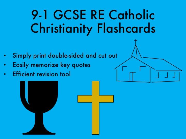 9-1 GCSE RE Catholic Christianity Flashcards