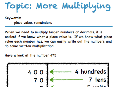 Multiplying and Dividing Workbook (E2-E3 UK)