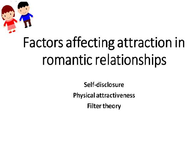 AQA Psychology Relationships Factors affecting romantic relationships
