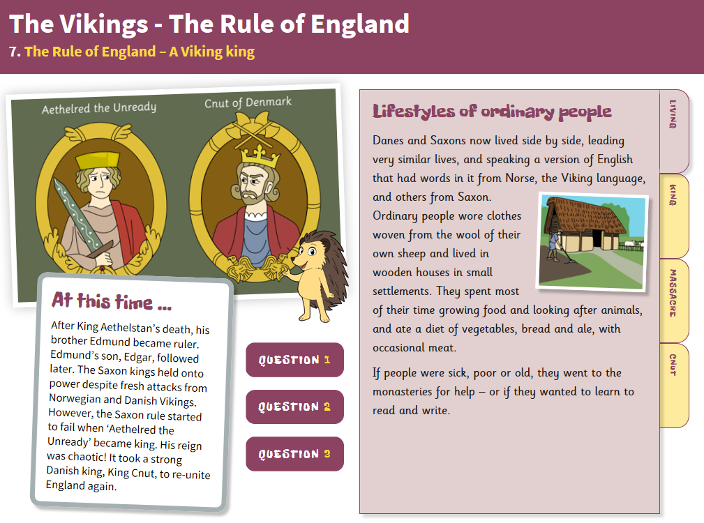A Viking King - Interactive Teaching Book - The Vikings KS2