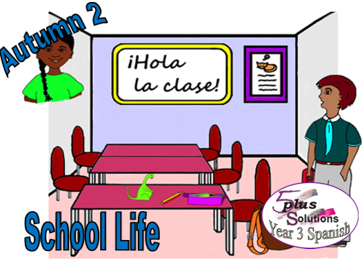 Primary Spanish PPSHOW: Lección 3 To answer the register (Y3 School Life )