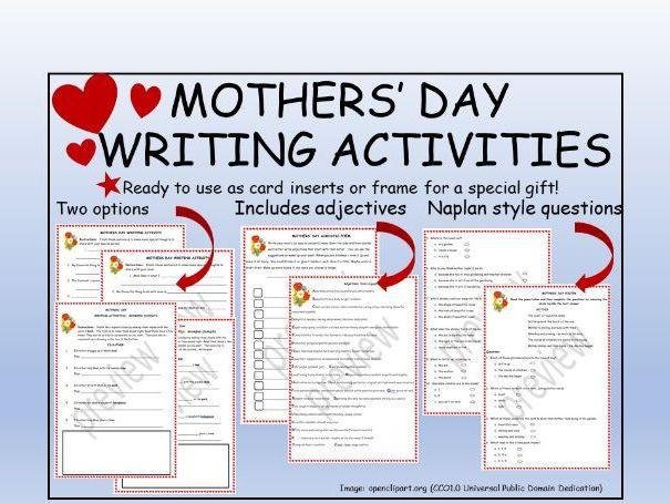 MothersDayWritingActivities+CraftIdeas