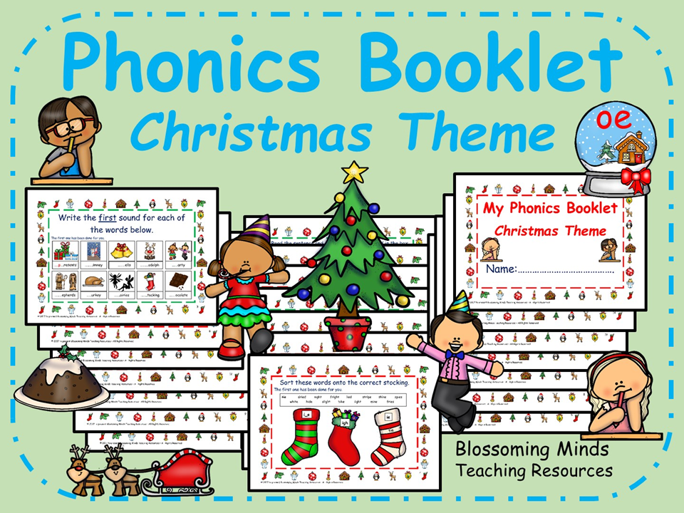 Christmas Phonics Activity Booklet - 20 pages