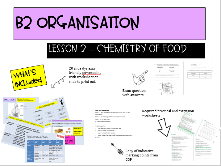NEW AQA B2.2 Food tests required practical