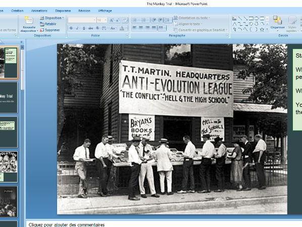 The Monkey Trial 1920s USA IGCSE Depth Study