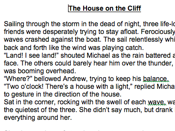 KS2  Short Story - Narrative Writing