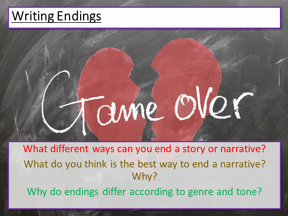 Creative Writing - Endings