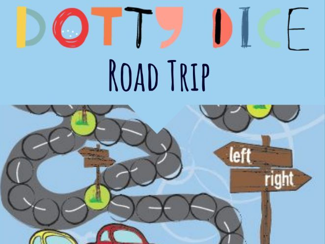 Geometry Board Game - Follow Directions using Left and Right - ROAD TRIP
