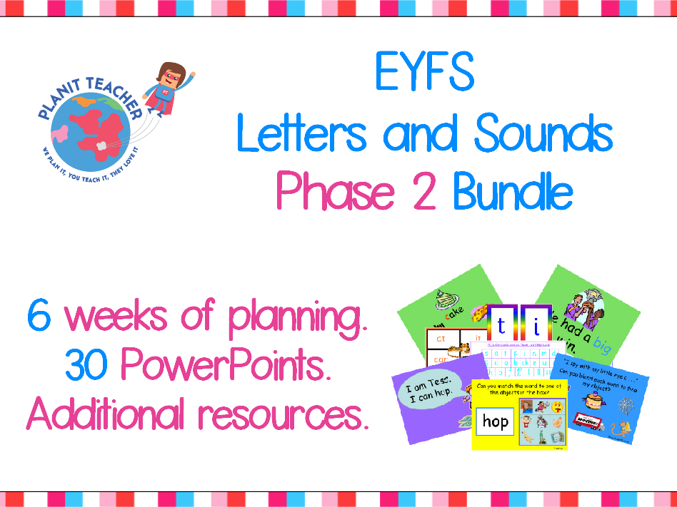 Phase 2 Phonics Letters and Sounds - Value Bundle - Planning, PowerPoints and Resources