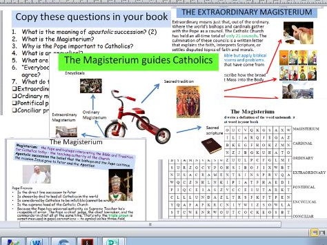 Eduqas Route B Component 2. Life and Death. The Ordinary and Extraordinary Magisterium