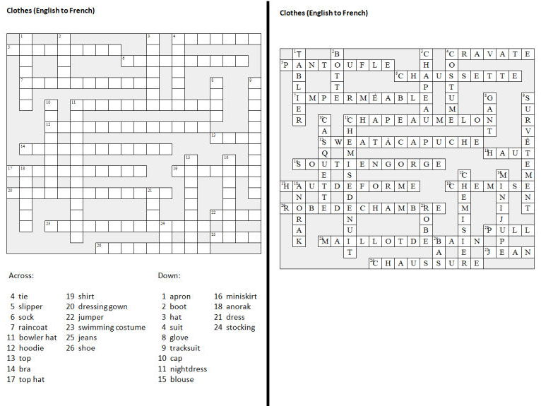 French crossword puzzles 2