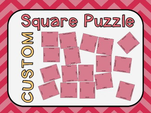 Square Vocabulary Puzzle Template