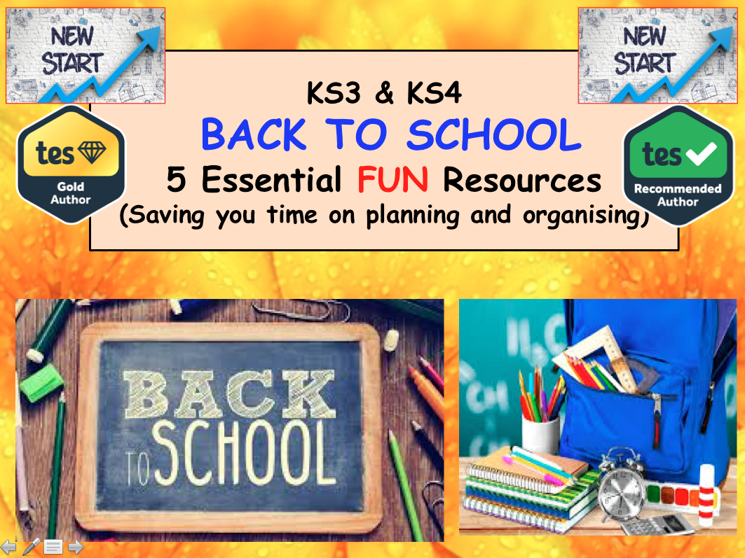 Back to School Activities - Transition - Team Building - Life Skills PSHE CITIZENSHIP