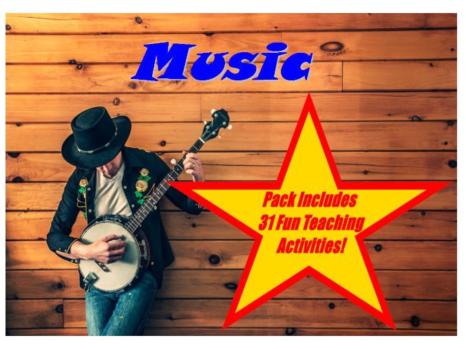 30 Music Themed Photo PowerPoint Presentation + 31 Teaching Activity Teacher Guide For Photos