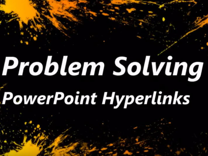 Problems with PowerPoint Hyperlinks in Assembly