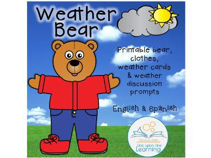 Weather Bear Printables and Weather Cards