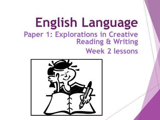 AQA Language Paper 1:  Week 2 Lessons - Qu 3 - Analysing Structure