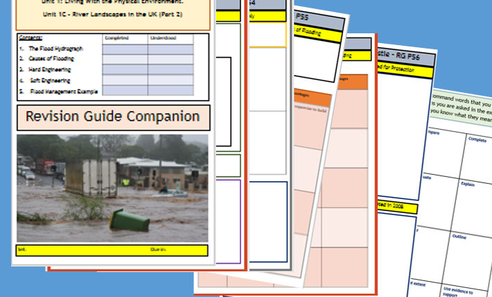 AQA GCSE 9-1: Flipped Learning Revision Booklet - River Landscapes in the UK Part 2.